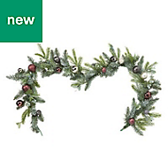 1.8m Decorated bauble Garland