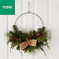 60cm 0.6m Wrapped twine ring Wreath