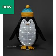 Ice white LED Penguin Silhouette