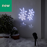Indoor & outdoor Santa & friends Ice white LED Christmas projector
