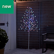 5ft Berry Pre-lit artificial Christmas tree