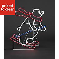 Multicolour LED Skiing Polar bear Silhouette