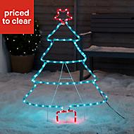 Multicolour LED Tree Silhouette