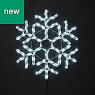 Ice white LED Snowflake Silhouette