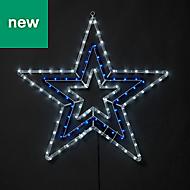 Multicolour LED Star Silhouette