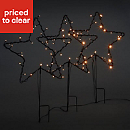 Warm white LED Star Stake light