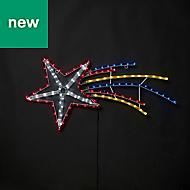 Multicolour LED Star rope light Silhouette