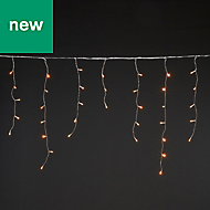 300 Warm white LED Icicle String lights