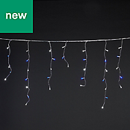 300 Cold white & blue LED Icicle String lights
