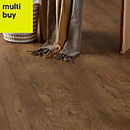 GoodHome Bunbury Natural Oak effect Laminate flooring, Sample