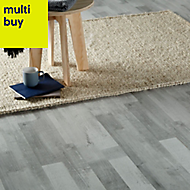 GoodHome Rockhampton Grey Oak effect Laminate flooring, Sample
