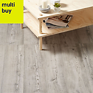 GoodHome Bailieston Grey Oak effect Laminate flooring, Sample