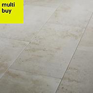 Reclaimed Off white Matt Concrete effect Porcelain Floor tile, Pack of 6, (L)600mm (W)300mm
