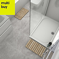 Mulligan Grey Matt Stone effect Ceramic Floor tile, Pack of 6, (L)600mm (W)300mm