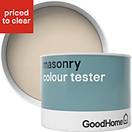 GoodHome Campinas Smooth Matt Masonry paint, 0.25L Tester pot