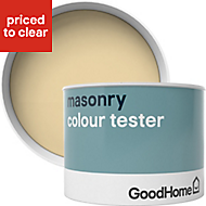 GoodHome Aruba Smooth Matt Masonry paint, 0.25L Tester pot