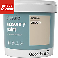 GoodHome Classic Campinas Smooth Matt Masonry paint, 5L