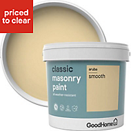 GoodHome Classic Aruba Smooth Matt Masonry paint, 5L