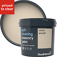 GoodHome Self-cleaning Campinas Smooth Matt Masonry paint, 5L