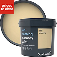 GoodHome Self-cleaning Aruba Smooth Matt Masonry paint, 5L