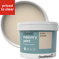 GoodHome Classic Campinas Smooth Matt Masonry paint, 10L