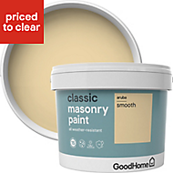 GoodHome Classic Aruba Smooth Matt Masonry paint, 10L