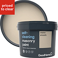GoodHome Self-cleaning Campinas Smooth Matt Masonry paint, 10L