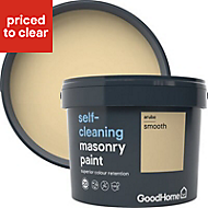 GoodHome Self-cleaning Aruba Smooth Matt Masonry paint, 10L