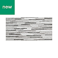 Mulligan Grey Matt Stone effect Ceramic Wall tile, Pack of 7, (L)600mm (W)300mm