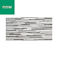 Mulligan Grey Matt Stone effect Ceramic Wall tile, Pack of 7, (L)600mm (W)300mm