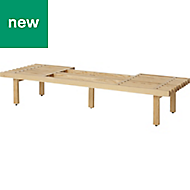 GoodHome Adriska Natural Bench
