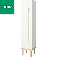 GoodHome Adriska White Storage Unit