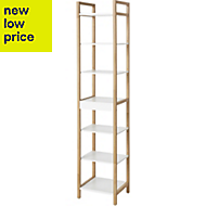 GoodHome Nantua Natural & White Shelving Unit