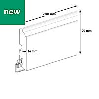 Matt Skirting board (T)16mm (L)2200mm