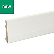 Matt Skirting board (T)19mm (L)2200mm