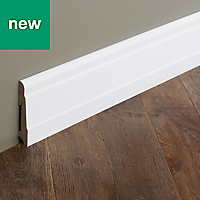 Matt Skirting board (T)19mm (L)2200mm