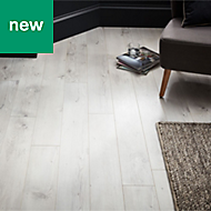 GoodHome Bilston White Oak effect Laminate flooring, 2.48m² Pack