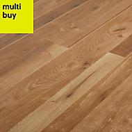 GoodHome Dawlish Natural Oak effect Laminate flooring, 2.13m² Pack