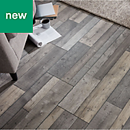 GoodHome Dunwich Grey Oak effect Laminate flooring, 2.17m² Pack