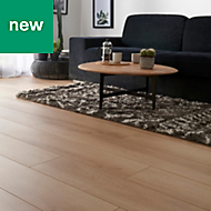 GoodHome Malton Natural Oak effect Laminate flooring, 1.74m² Pack