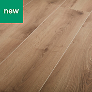 GoodHome Masham Natural Oak effect Laminate flooring, 1.55m² Pack
