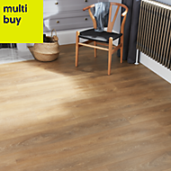 GoodHome Mossley Natural oak effect Laminate flooring, 1.72m² Pack