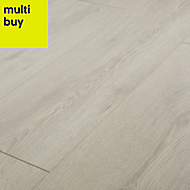 GoodHome Newlyn Grey Oak effect Laminate flooring, 1.68m² Pack