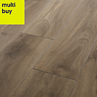 GoodHome Oldbury Grey Oak effect Laminate flooring, 1.72m² Pack