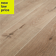 GoodHome Stoke Natural Oak effect Laminate flooring, 1.72m² Pack