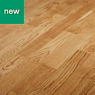 Bishorn Natural Oak Real wood top layer flooring, 2.03m² Pack