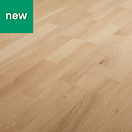 GoodHome Dulang Natural Oak Real wood top layer flooring, 1.77m² Pack