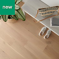GoodHome Goodsir Natural Oak Real wood top layer flooring, 1.56m² Pack