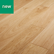 GoodHome Gosford Natural Oak Real wood top layer flooring, 0.99m² Pack