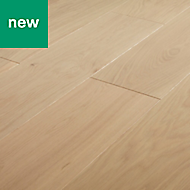 GoodHome Isaberg Natural Oak Real wood top layer flooring, 1.84m² Pack